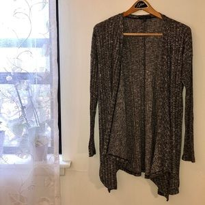 American Eagle Open Front Ribbed Cardigan Sweater